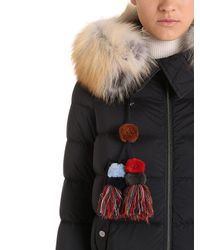 Peuterey - Black Hotas Down Bomber Jacket W/ Fur Trim - Lyst