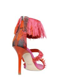 Gianluca Capannolo - Red 90mm Fringed Jacquard Sandals - Lyst