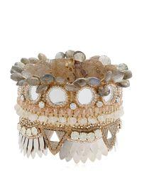 Deepa Gurnani   Metallic Bina Cuff Bracelet   Lyst