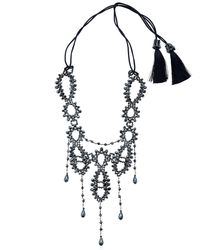 Night Market - Metallic Pendant Deco Necklace - Lyst