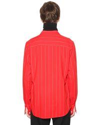 AMI - Red Hemd Aus Viskose Und Schurwolle for Men - Lyst