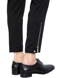 DSquared² Black 16cm Slim Stretch Wool Pants W/ Zips for men