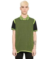 Christopher Kane - Green Striped Cotton Blend Sweater Vest for Men - Lyst
