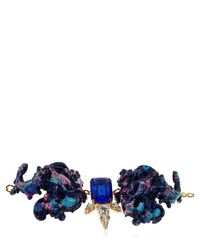 Halo - Blue Colored Bracelet With Swarovski Crystals - Lyst