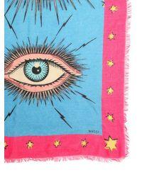 Gucci - Blue Eye & Star Scarf - Lyst