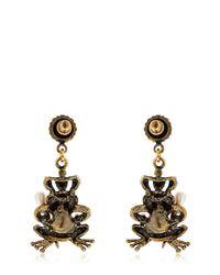 Alcozer & J | Metallic Yvonne & Brigitte Frog Earrings | Lyst