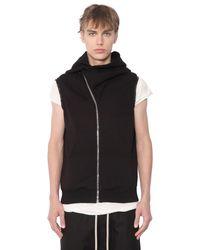 Rick Owens - Black Drkshdw Sleeveless Jersey Sweatshirt for Men - Lyst