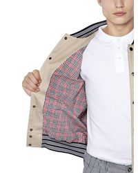 Maison Kitsuné - Natural Cotton Gabardine Bomber Jacket for Men - Lyst