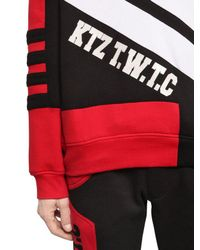 KTZ - Red Geometric Patchwork Cotton Sweatshirt for Men - Lyst