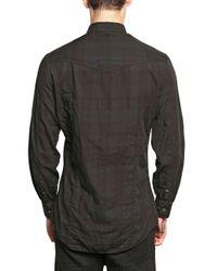 Neil Barrett - Black Cotton Check Shirt for Men - Lyst