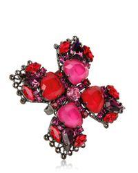 Erickson Beamon - Pink Crystal Ring - Lyst