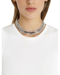 Ellen Conde - Metallic Brilliant Jewelry Spike Crystal Necklace - Lyst