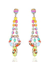 Tom Binns | White A Riot Of Color Earrings | Lyst