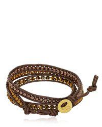 Colana - Brown Swarovski & Hematite Bracelet - Lyst