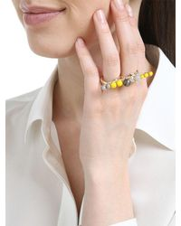 Anton Heunis - Yellow Color Block Double Finger Ring - Lyst