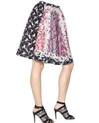 Peter Pilotto | Pink Emma Waffle Silk Skirt | Lyst