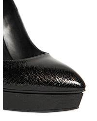 Saint Laurent | Black 130mm Janis Tumbled Leather Pumps | Lyst