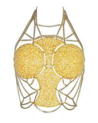 Idriss Guelai Atelier - Metallic Solar Flare Body Harness - Lyst