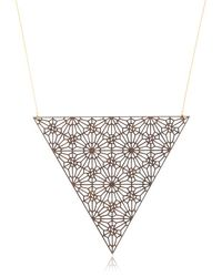 Lotocoho | Metallic Alhambra Triangle Shaped Necklace Iii | Lyst