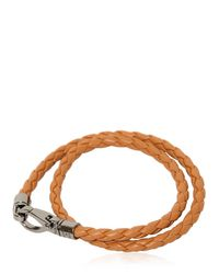 """Tod's - Brown """"my Colors"""" Braided Leather Bracelet for Men - Lyst"""