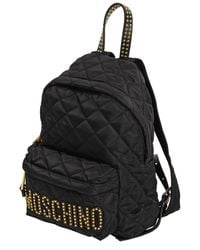 Moschino - Black Quilted Backpack - Lyst