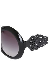 Dolce & Gabbana - Black Spain & Sicily Acetate Round Sunglasses - Lyst