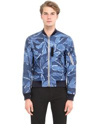 Burberry Brit | Blue Printed Bomber Jacket | Lyst