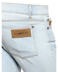 April77 - Blue 16cm Joey Bleached Stretch Denim Jeans - Lyst