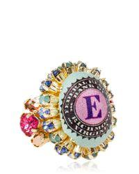 Bijoux De Famille | Pink Small Funky Dollar Ring | Lyst