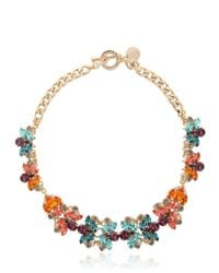 Anton Heunis | Metallic Flower Motif Necklace | Lyst