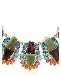Anton Heunis - Metallic Flowers Motif Necklace - Lyst
