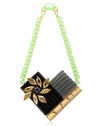 Silvia Rossi | Black Sun Flower Necklace | Lyst