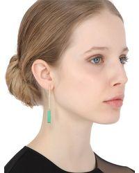 Jade Jagger | Green Never Ending Bar Earrings | Lyst