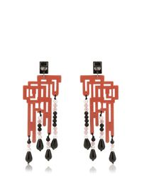 Anna E Alex | Red Labirinto Decò Earrings | Lyst