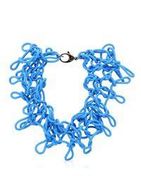 Alienina   Blue Odyssee Rubber Necklace   Lyst