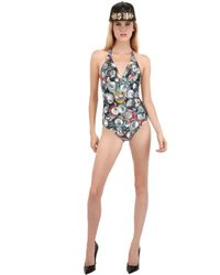 Moschino | Multicolor Cans Microfiber One Piece Swimsuit | Lyst