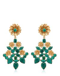 Mercantia - Metallic Lux Flower Drop Earrings - Lyst