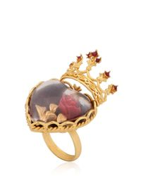 Dolce & Gabbana | Metallic Sacred Heart Ring | Lyst