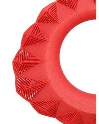 Vojd Studios | Red Umbala Triangular Bangle Bracelet | Lyst