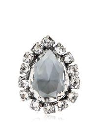 Emanuele Bicocchi - Metallic Swarovski Crystal Ring - Lyst
