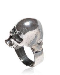 Emanuele Bicocchi - Metallic Silver Skull Ring for Men - Lyst