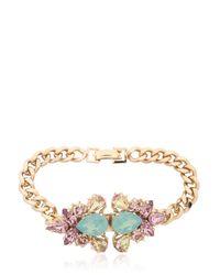 Anton Heunis - Metallic Double Flower Bracelet - Lyst