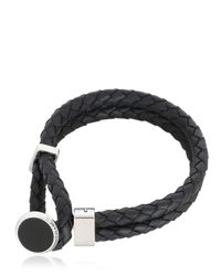 Montblanc - Black Leather, Steel And Resin Bracelet for Men - Lyst