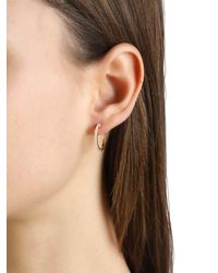 Apm Monaco - Metallic Asymmetric Sun Drop & Hoop Earrings - Lyst
