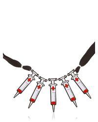 Yazbukey - Red Syringe Necklace - Lyst
