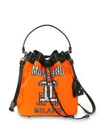 Moschino - Orange Tools Printed Bucket Bag - Lyst