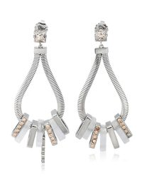 Ledaotto - Metallic Shangai Earrings - Lyst