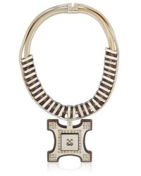 Ledaotto | Metallic Tour Eiffel Necklace | Lyst