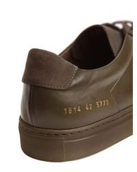 Common Projects - Green Achilles Leather Low-Top Sneakers for Men - Lyst