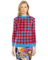 House of Holland | Blue Gingham Jumper | Lyst